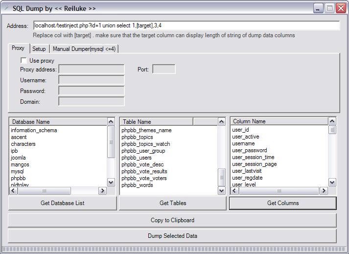 MYSQL Dumper